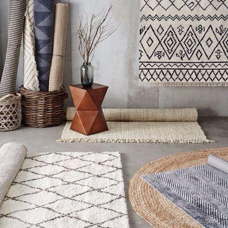 collalily Kilim handmade Carpet geometric Bohemia Indian Rug plaid striped Modern black white design Nordic style