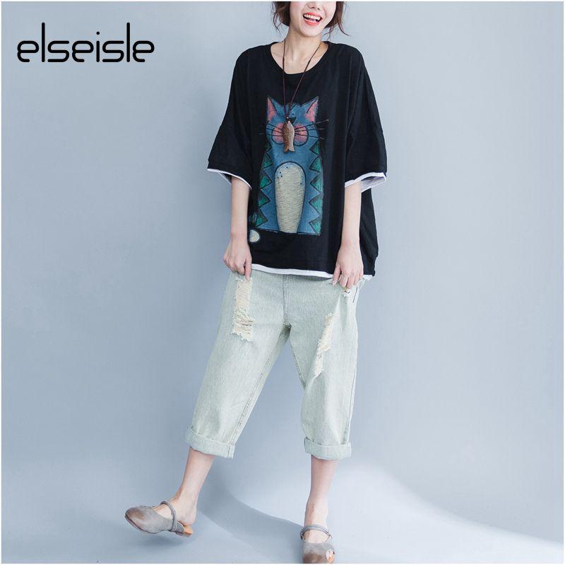 2017 Summer Plus Size Kawaii Character totoro t shirt for women Harajuku Style Women Top Cotton Printed Casual tee shirt femme