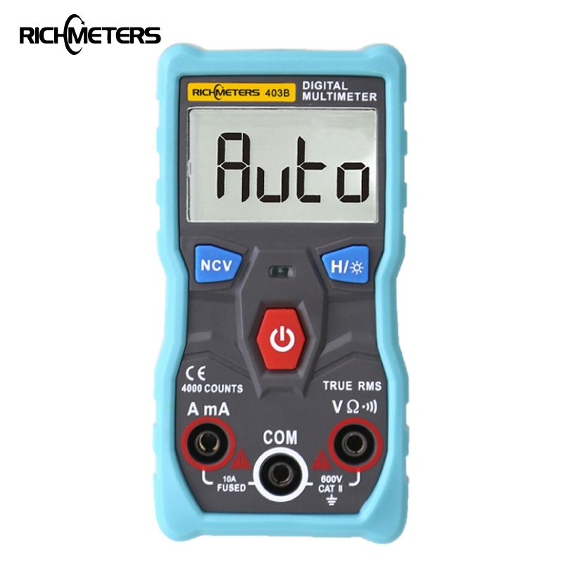 RM403B Automatic Digital Multimeter True-RMS intelligent NCV 4000 Counts AC/DC Voltage Current Ohm Test Tool Japan Korea