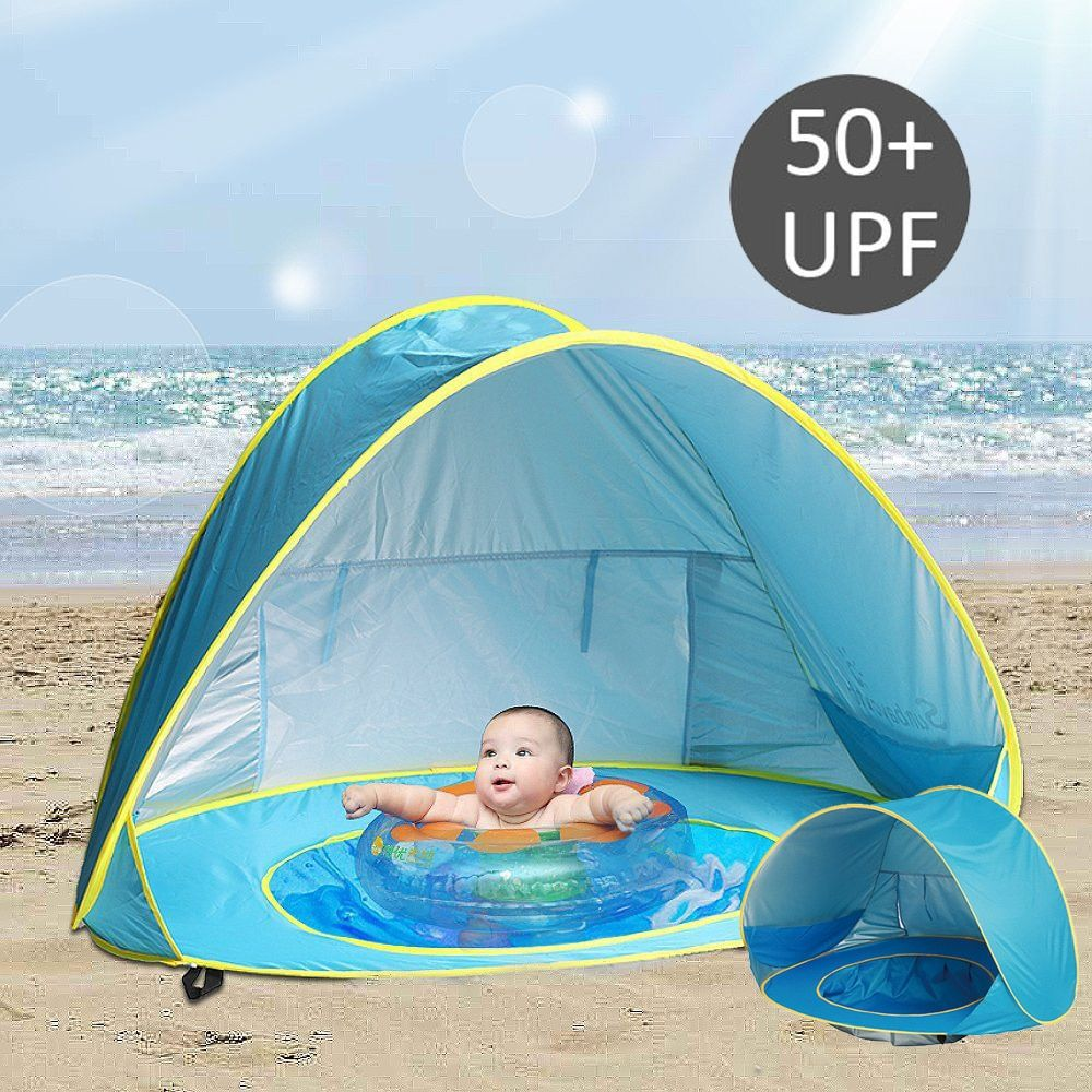 Summer Baby Beach Tent UV-protecting Sunshelter with Pool Waterproof Pop Up Awning Tent Children 's Tent Kids Small House
