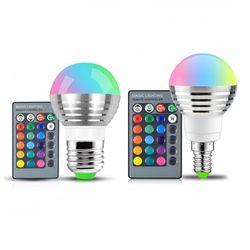 110 V 220 V 85-265 V E27 E14 RGB LED ampoule 16 Couleur Magique LED Night Light Lampe Dimmable Lumière de La Scène/24key Télécommande vacances