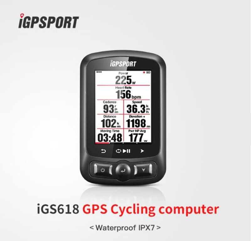 Color Screen Cycle computer gps iGS618 iGPSPORT gps tracker bike navigation Speedometer IPX7 3000 hours data storage
