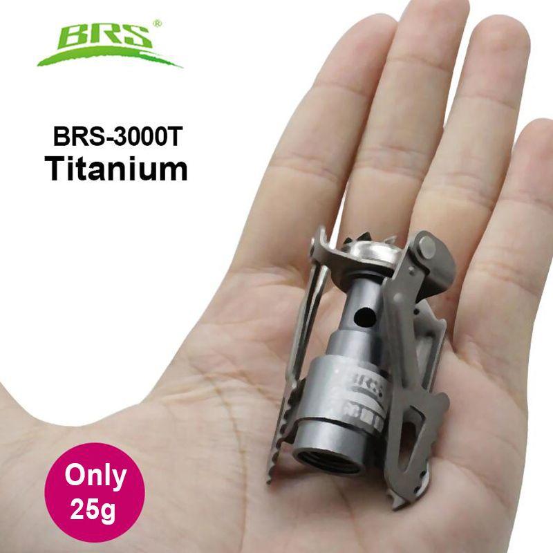 BRS Portable Mini Camping titane poêle extérieur cuisinière à gaz survie four cuisinière poche pique-nique cuisson gaz brûleur brs-3000t
