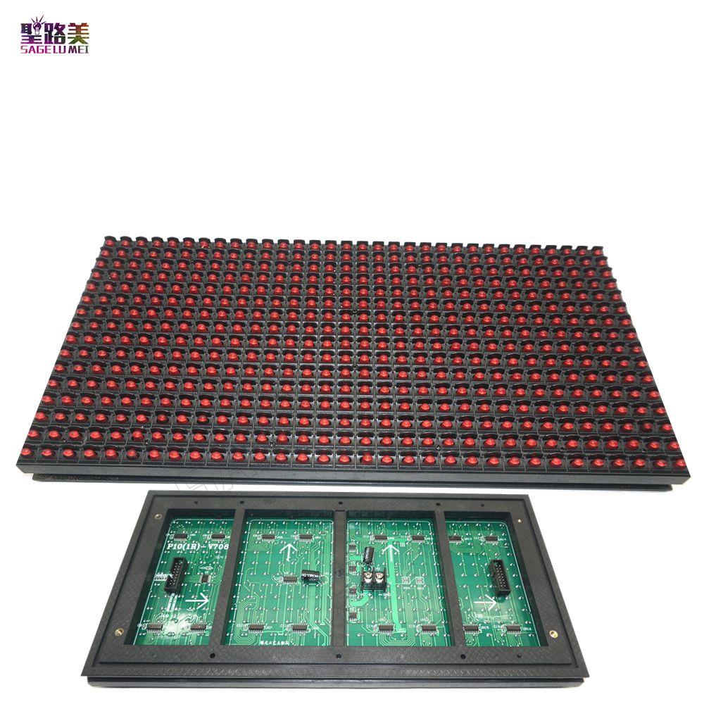 P10 Module D'affichage de Fenêtre de Magasin de Signe De Signe porte IP65 320*160mm 32*16 pixels couleur RVB/couleur simple Matrice BRICOLAGE