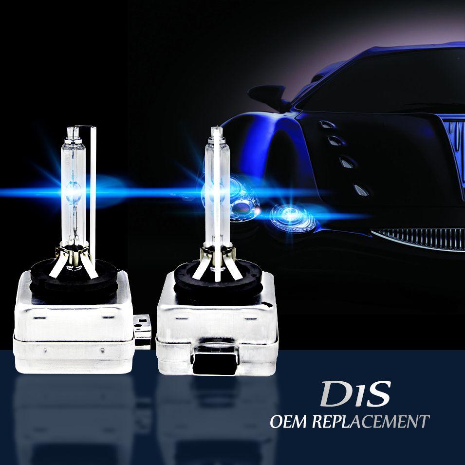 AutoCare 2pcs D1S Replacement 12V 35W D1R D1C Xenon White HID Bulbs Headlights Car Lamps High Lumen 4300K 5000K 6000K 8000K