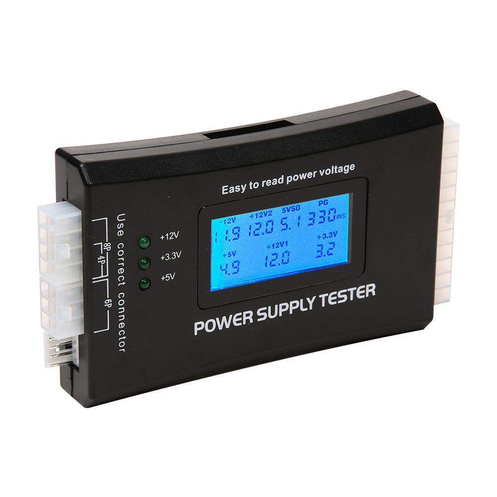 Affichage numérique LCD PC ordinateur 20/24 broches testeur d'alimentation vérifier rapide banque alimentation mesure de puissance testeur de Diagnostic outils