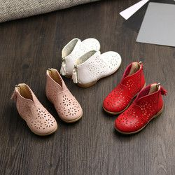 Kids Shoes Girls Leather Sandals Fashion Big Flower Girl Flat Pricness Spring Autumn Children Party Anti-Slip Shoes BFOF