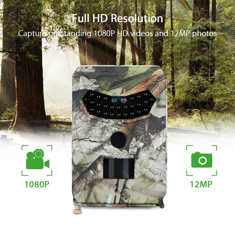 12MP Thermal Video Camera 940NM Night Vision Scouting Wild Camera for Hunting Wireless Time Lapse Security Camera