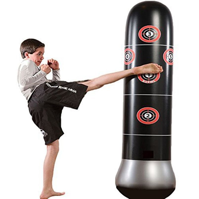 Fitness Inflatable Kids Punching Bag Stress Punch Tower Speed Bag Stand Power Boxing MMA Target Bag For Children Teens Adult