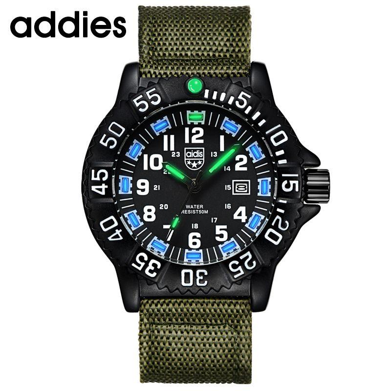 Montre hommes marque de luxe mode sport montres lumineux homme horloge Quartz Montre heure Montre Drop ship relogio masculino