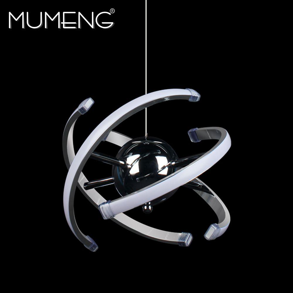 mumeng LED Ball Pendant Light 23W Modern Acrylic kitchen Lamp 85-265V Dining Room Hanging Lighting Adjustable Style Luxture