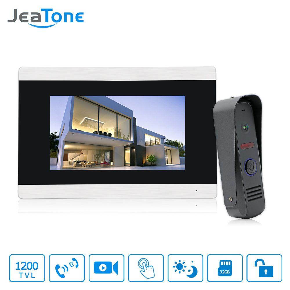 7 zoll Touchscreen Video-türsprechanlage Sprechanlage Türsprechanlage Türklingel Wasserdichte Anruf Panel Video Türklingel Kostenloser versand
