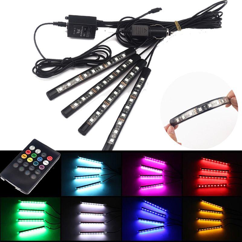 RGB Remote Control LED Car Interior Floor Foot Atmosphere Lights for Honda Accord Civic CRV CR-V HRV HR-V Jazz Fit City HRV gx35