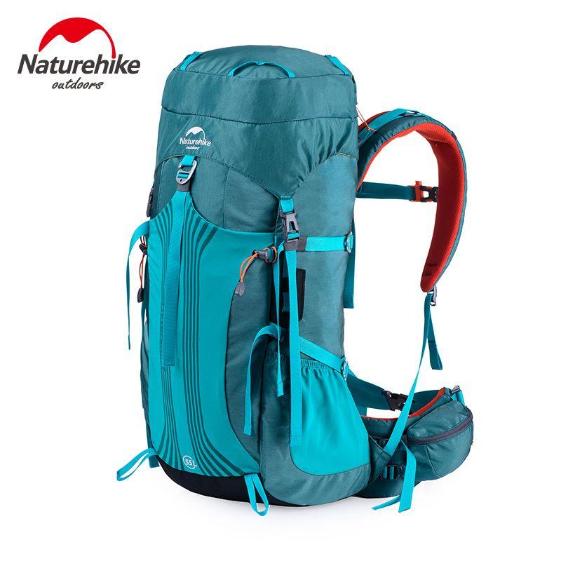 Naturehike 55L 65L Sports de Plein Air sacs de Camping sac D'alpinisme Sac À Dos de randonnée sac à dos Unisexe en métal cadre Sacs À Dos CR