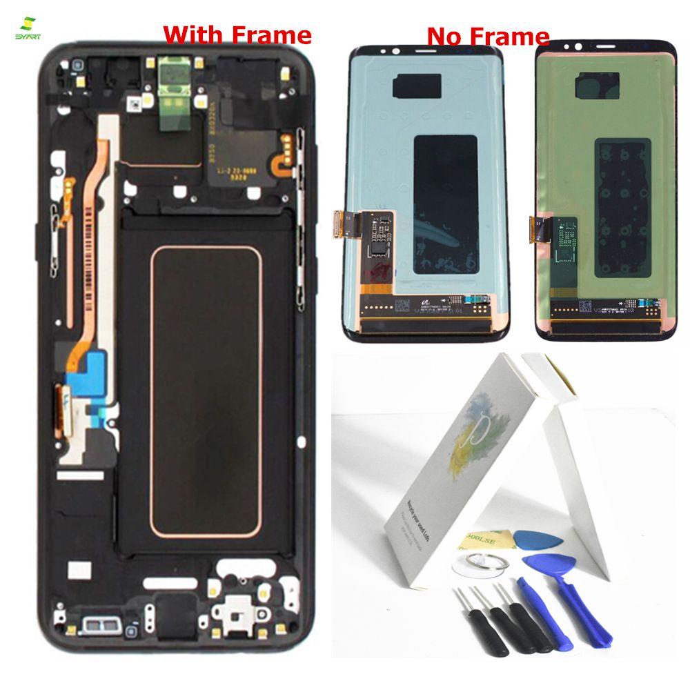 S8 G950 Lcd Mit Rahmen für SAMSUNG Galaxy S8 Bildschirm Ersatz LCD Touch Digitizer Montage S8 S8 Plus G950 G950F g955 G955F
