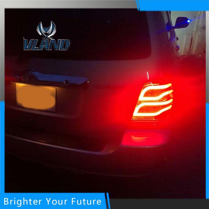 2pcs LED Rear Lamps Fit For Toyota Highlander Kluger 2001-2007 Tail Lights Assembly