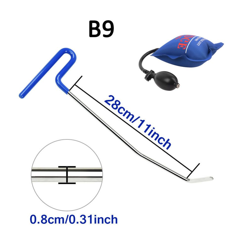 PDR tools 1 pcs blue color PDR Rods Hooks with pum wedge Car Crowbar auto body Dent repair tools