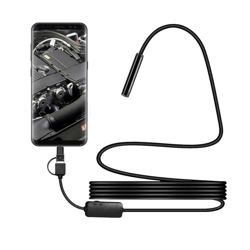 IP67 1200 p Android 8mm Micro USB Type-c USB 3-en-1 Ordinateur Endoscope Endoscope tube Étanche USB D'inspection Mini Vidéo Caméra
