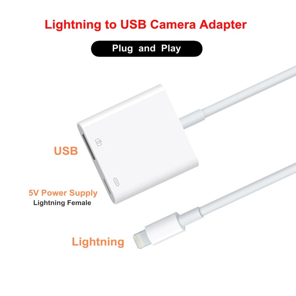 8Pin Lighting for Lightning to USB 3 Camera Adapter Cable OTG Data Sync External Keyboard Connector Cable for iPhone X 8 6S iPad