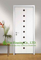 Personnalisé Design Porte En Bois Chambre, bois Porte D'entrée, Porte D'entrée Moderne Avec Cadre En Aluminium