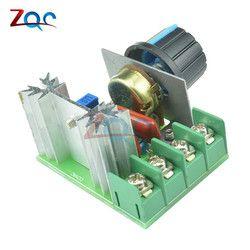 AC 220 В 2000 Вт scr Напряжение регулятор затемнения Диммеры Двигатель Скорость контроллер электронный термостат Напряжение Регулятор модуль