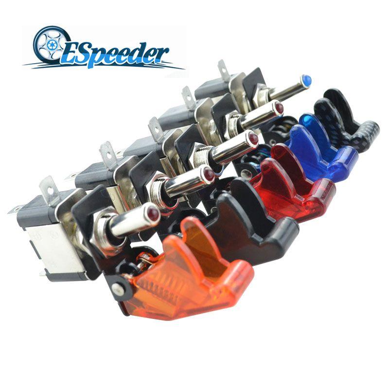 ESPEEDER Auto Lkw 12 v 20A LED Licht Rocker Kippschalter SPST ON/OFF Auto Motor Auto Auto Abdeckung kippschalter Rocker Control