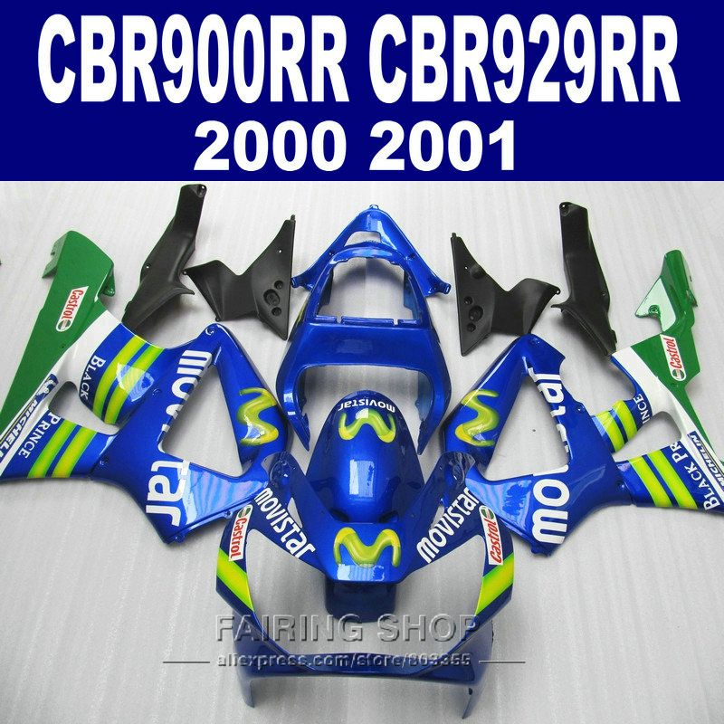 MOVISTAR cbr900rr 929 2000 2001 Fairings For HONDA cbr929rr 00 01 Injection Fairing kit ( 100% fit ) C41