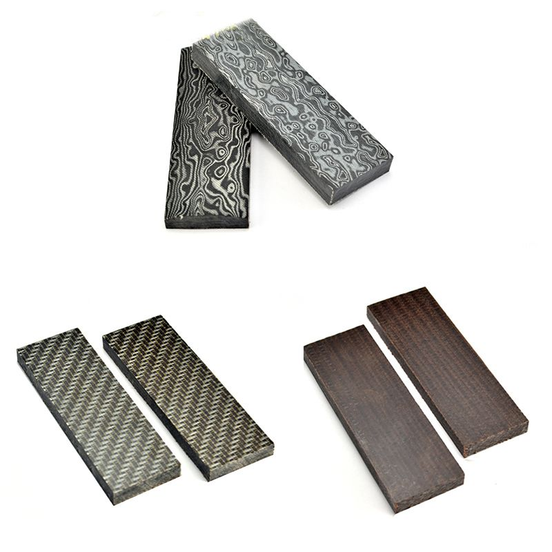 2pcs 160x50x10mm Damascus Canvas texture Micarta Template Board Sheet For DIY Knife handle Craft Supplies