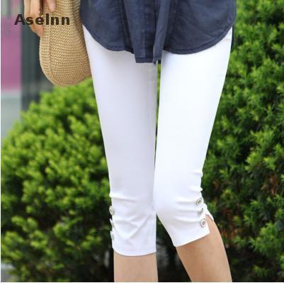 Offre spéciale femmes grande taille S-XXXL été Slim taille bonbon couleur Stretch Leggings Capris mode crayon pantalon cultures pour femme