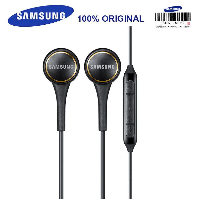 SAMSUNG EO-IG935 dans l'oreille Sport casques avec micro 3.5mm 1.2 m stéréo musique écouteurs pour Samsung S9 S9Plus S8Edge Android Smarphone