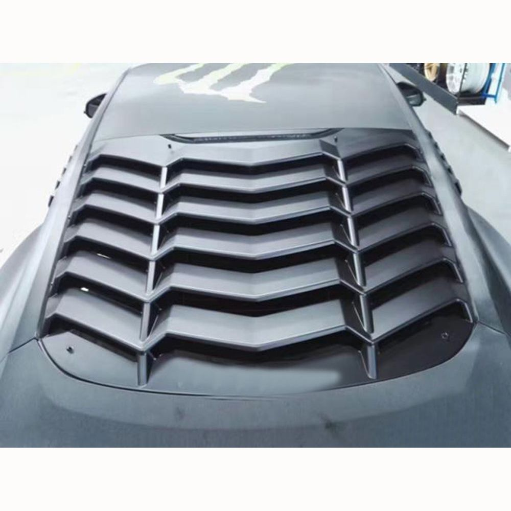 ABS black car rear window decorative louver air outlet diffuser shutter for Ford mustang 2015 2016 2017 2018 L style