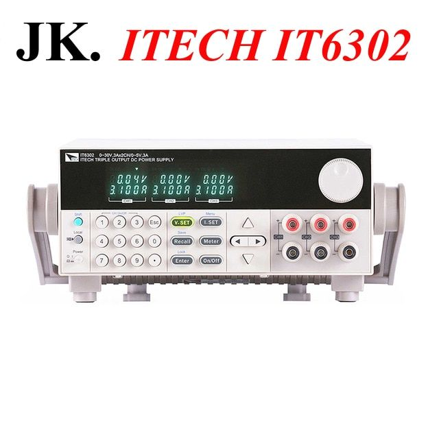 IT001 New Original Authentic ITECH IT6302 3 Channels Programmable DC Power Supply 30V/3A/90W*2CH and 5V/3A/15W*1CH Free Shipping