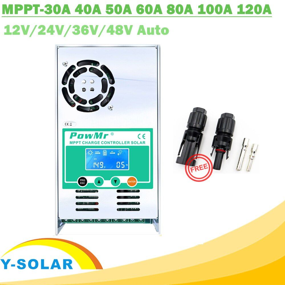 MPPT 120A 80A 60A 40A Solar Laderegler Hintergrundbeleuchtung LCD Solar Regler 12 v 24 v 36 v 48 v auto für Säure und Lithium-Freies MC4