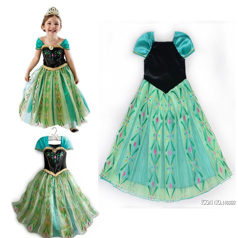 Girls Elsa Elza Rapunzel Costume Dress Children Party Princess Girls Dress Cartoon Costume For Girl Disfraces Baby Wedding Cloth