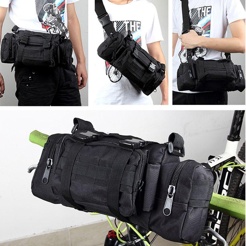 Vtt mountain road vélo avant sac vélo vélo guidon sac bandoulière épaule sac taille sac multi-pocket bike accessoires