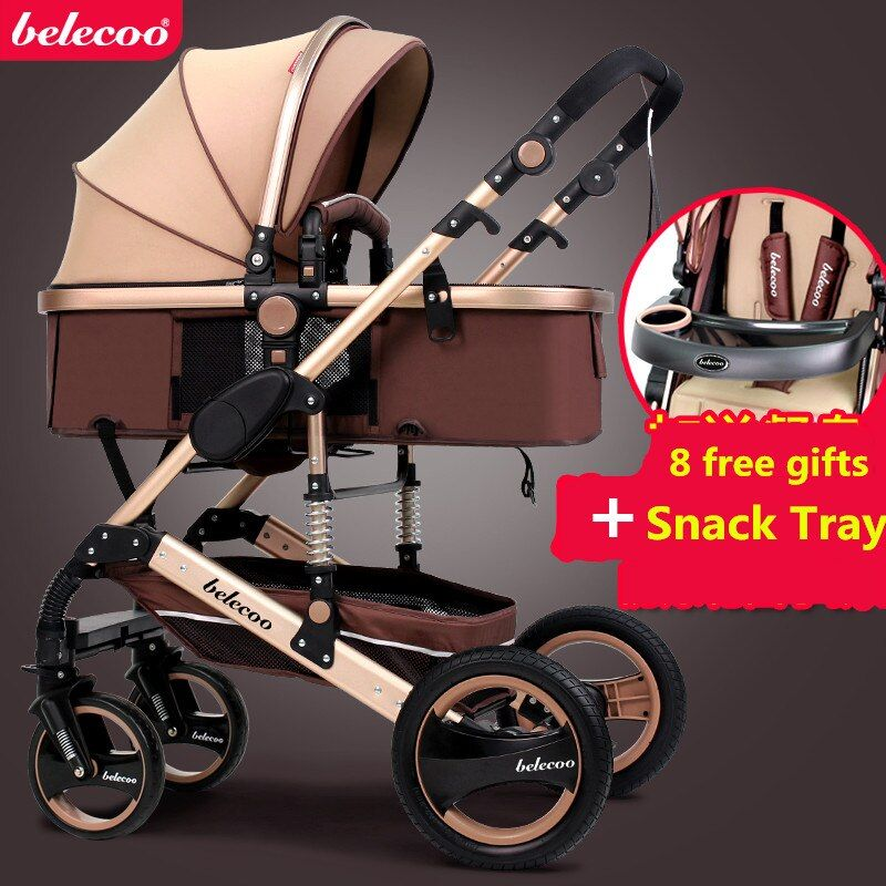 US free ship! Coupon ! Belecoo Baby Stroller 0--36 newborn Stroller Inflatable Natural Rubber Wheels Four Wheel folding bb car
