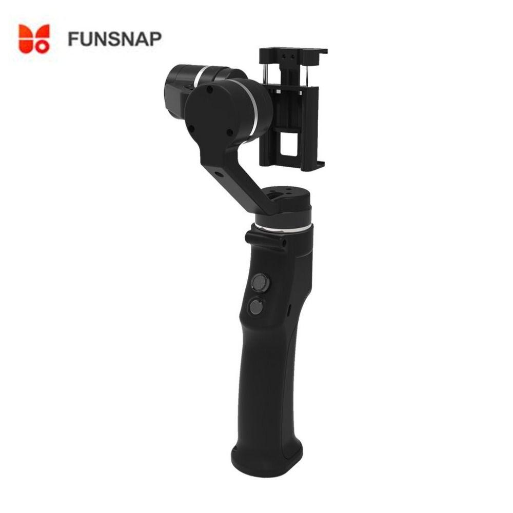 Funsnap Capture 3-axis Smartphone Handle Gimbal Stabilizer steadicam for Smartphone iPhone X 8 VS Zhiyun Smooth 4 Feiyu Vimble 2