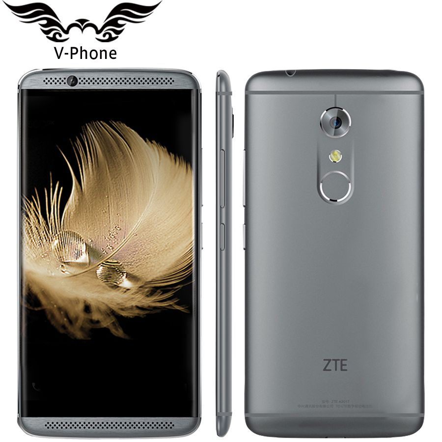 Original ZTE Axon 7 A2017 4G LTE Mobile Phone 4GB RAM 64GB ROM Snapdragon 820 Quad Core 2.15GHz 5.5inch 20.0MP Fingerprint