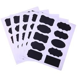 50 unids/set Pizarras etiqueta las etiquetas del organizador del tarro de la cocina del arte vidrio Ventanas pizarra Pizarras Oficina papelería