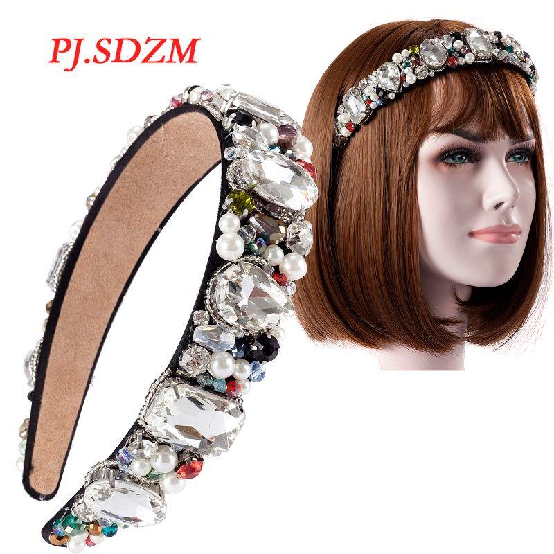 Luxury HairBands Sparkly Korea Hot Fashion Women Hair Accessories Trendy Big Crystal Rhinestone Bridal Wedding Headband FG0003
