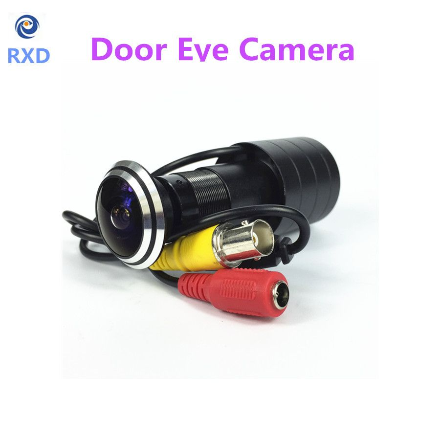 SHRXY HOTsell 170 Wide Angle 800tvl CCD Wired Mini Door Eye Hole Video Camera Color DOORVIEW mini CCTV Camera