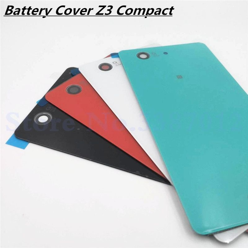 Vecmnoday Original Back Battery Cover Door For Sony Xperia Z3 Compact Z3 mini D5803 D5833 Housing Rear Glass Case With NFC