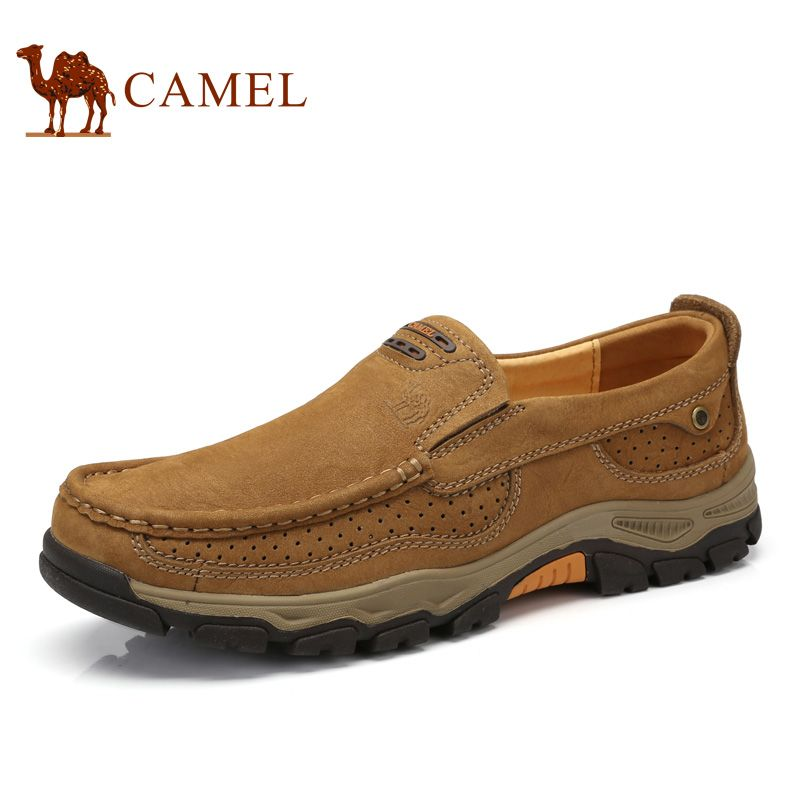 Camel Men's Shoes Spring Casual Genuine Leather Comfortable Sleeves Wear-resistant Anti-skid Matte Leather Shoes A712344420