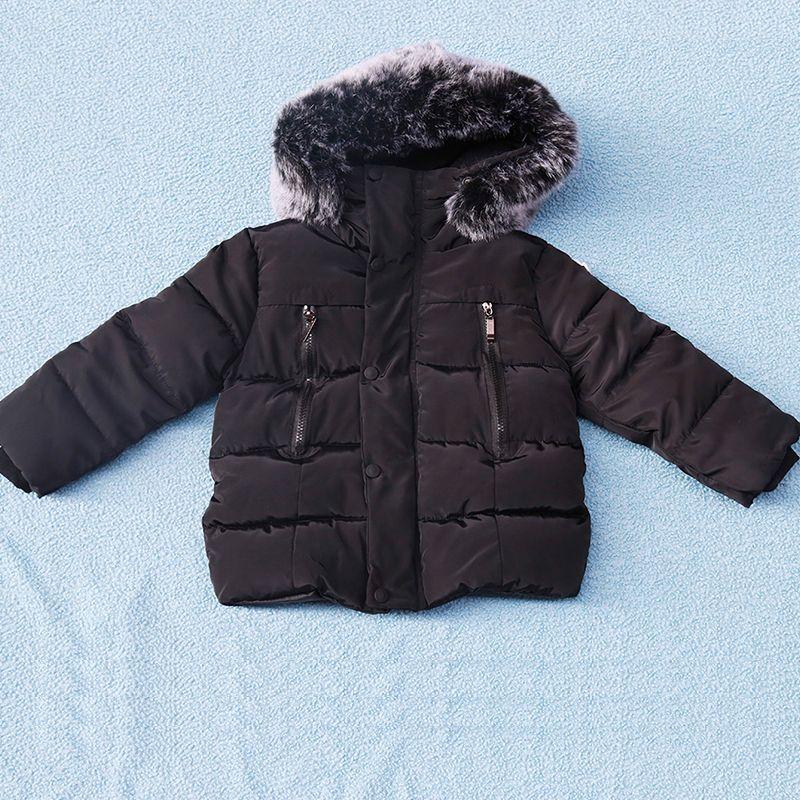 Одежда для маленьких девочек, детские зимние длинные рукава теплая куртка и пиджаки, Обувь для мальчиков с хлопковой подкладкой верхняя оде...