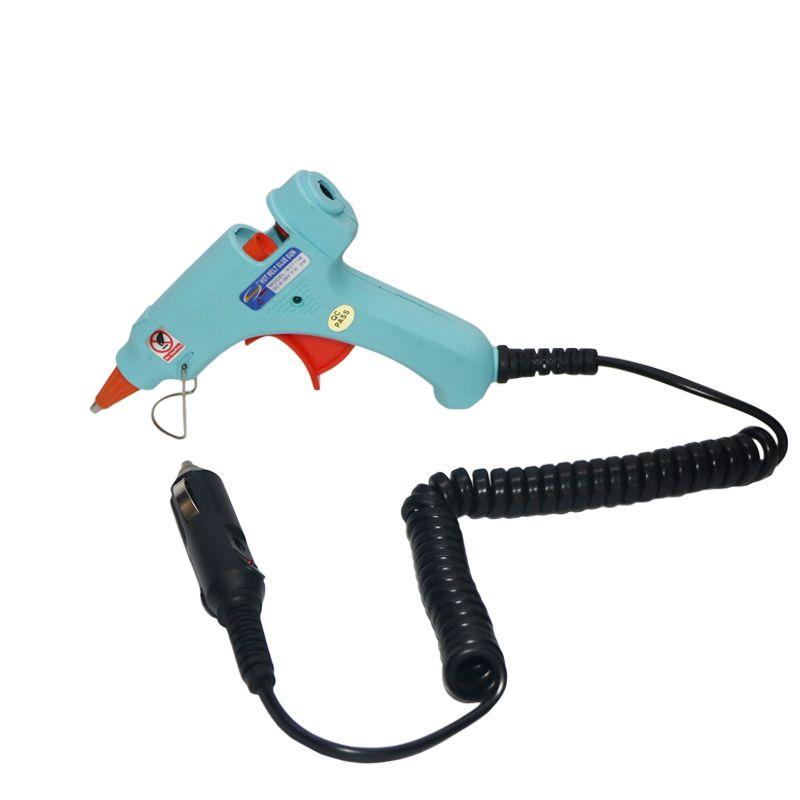 12 V 20 W Voiture Cigatrette Léger Thermofusible Pistolet À Colle pour 7mm Colle Bâtons Mini Gun BRICOLAGE Outils, 1 pcs/lot