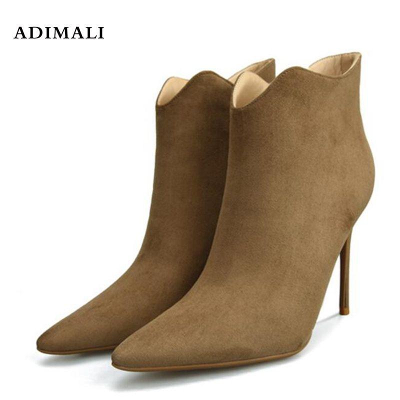 Fashion Short Platform Boots Short Barrel Autumn Winter Womens nursing Shoes High Heels 2018 New design style Ankle boots Black