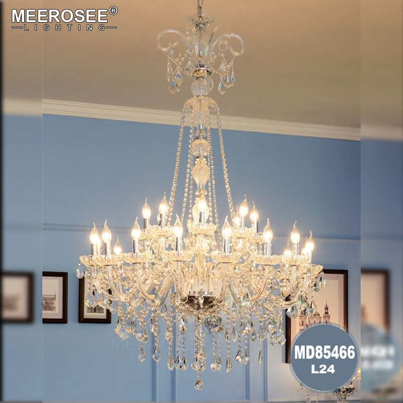 Long Stair Crystal Chandelier Luxurious Crystal Hanging Light Fixture For Home Decoration Hotel Project Foyer Staircase Lighting