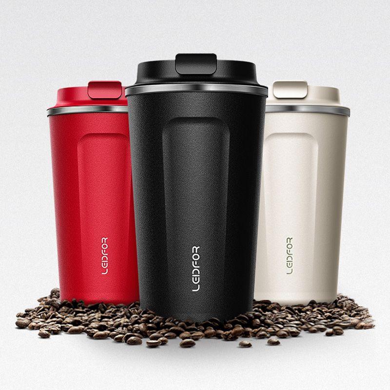 2018 kaffee Becher mit Deckel Milch Edelstahl Vakuum Glaskolben Isolierte Thermische Wasser Flasche Tasse Bier Thermocup Kaffee Thermo Becher