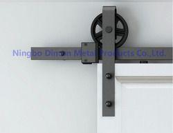Dimon personnalisés coulissantes quincaillerie de porte de grange en bois quincaillerie de porte suspendus roue Amérique style porte coulissante matériel DM-SDU 7210