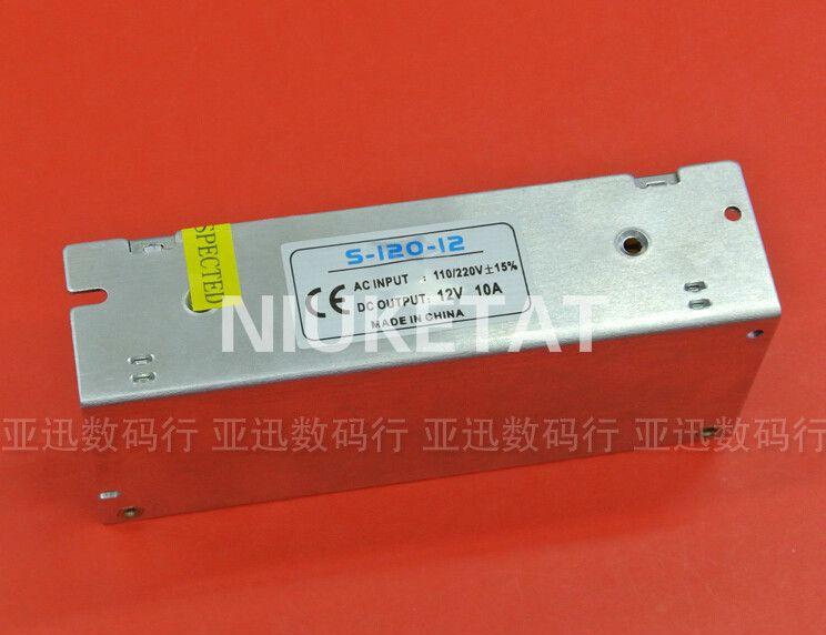 DC12V 10A 120 w Transformateurs d'éclairage 110 v-220VAC à DC 12V10A Commutateur D'alimentation Adaptateur Convertisseur Pour RGB LED Bande Pilote
